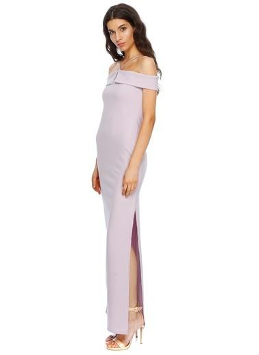 Missguided Straplez Uzun Abiye Elbise Lila